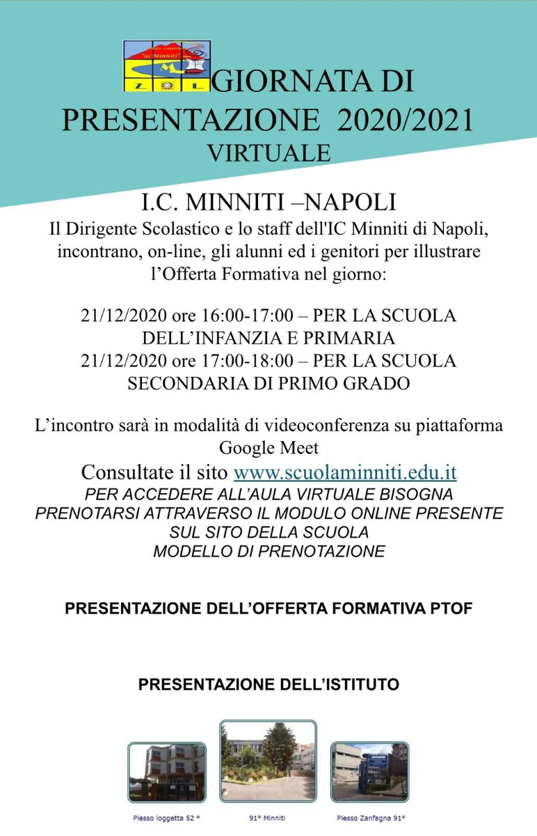 Presentazione on line dell'IC Minniti